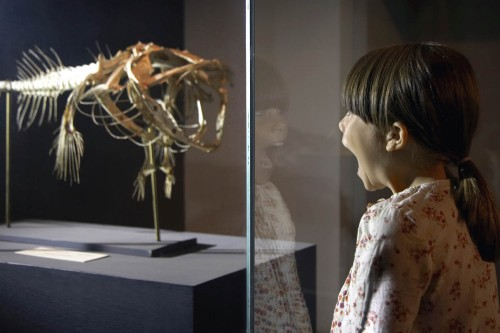 Schoolgirl Watching Exhibit